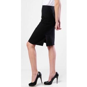 Theory Golda Knee-Length Double Vent Pencil Skirt